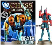 DC Chess Figurine Collection #36 Deathstroke Black Pawn Justice League Eaglemoss